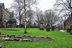 爱丁堡,城市、几座纪念碑和城堡的看法, 免版税库存图片
