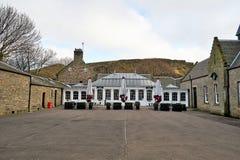 爱丁堡,城市、几座纪念碑和城堡的看法, 库存照片