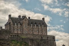 爱丁堡,爱丁堡城堡,苏格兰历史 免版税库存照片