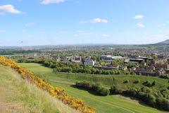 爱丁堡,苏格兰全景 库存照片