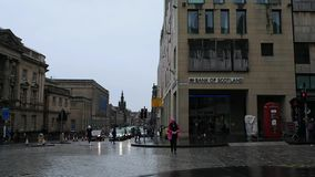 爱丁堡,苏格兰横穿  股票视频