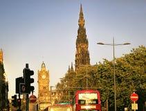 爱丁堡,苏格兰,英国街道视图  免版税库存图片