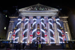 爱丁堡,苏格兰-在圆顶餐馆的圣诞节 免版税库存照片