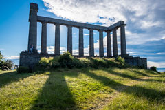 爱丁堡,苏格兰- 2014年7月1日:人们是花费他们ho 免版税图库摄影