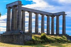 爱丁堡,苏格兰- 2014年7月1日:人们是花费他们ho 免版税库存图片