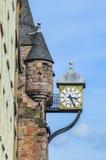 爱丁堡,英国- 2015年4月06日-在爱丁堡附近的老葡萄酒时钟 免版税库存照片
