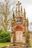 爱丁堡,英国- 2015年4月06日-罗斯格教堂纪念碑 免版税库存照片
