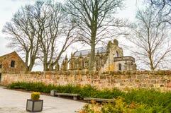 爱丁堡,英国- 2015年4月06日-罗斯格教堂 库存照片