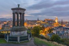 爱丁堡Calton小山  免版税库存照片