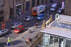 爱丁堡Waverley火车站,苏格兰 图库摄影