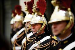 爱丽舍宫共和国卫队 库存照片