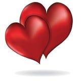爱传染媒介元素设计情人节的心脏标志 免版税图库摄影