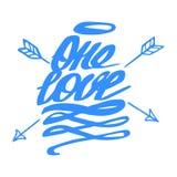 爱传染媒介  愉快的情人节手字法标志 免版税库存图片