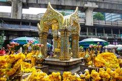 爱侣湾寺庙在曼谷,泰国 免版税库存图片
