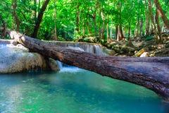 爱侣湾瀑布美丽的北碧,泰国 库存图片