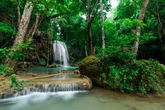 爱侣湾瀑布,北碧,泰国 库存图片