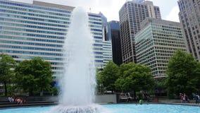 爱公园喷泉在费城 库存图片