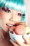 爱吃甜品的胃口 图库摄影