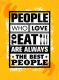 爱吃的人们总是最佳的人民 在概略的背景的富启示性的食物刺激行情概念 库存例证