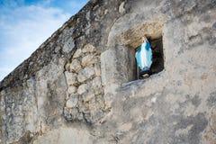 爱和仁慈的圣母玛丽亚标志 图库摄影