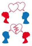爱和关系,传染媒介 向量例证