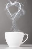 爱和咖啡 免版税库存照片