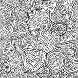 爱和感觉题材无缝的样式 免版税库存照片