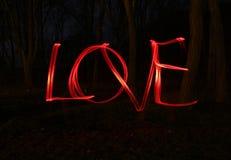 爱和红色灯轻的迷离照片  免版税库存照片