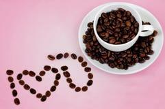 爱咖啡 库存图片