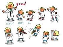 爱因斯坦孩子 库存例证