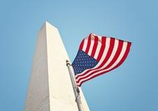 爱国华盛顿纪念碑 免版税库存图片