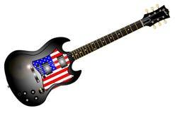 爱国吉他 免版税库存图片