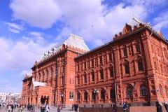 爱国战争的照片状态历史博物馆1812在红场在春天,俄罗斯,莫斯科 免版税库存图片