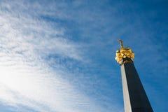爱国战争的纪念碑1812在Raevsky电池在博罗德 库存照片