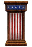 爱国木指挥台3D例证 库存图片