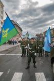 爱国的俱乐部的军校学生准备游行 库存照片