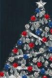 爱国的圣诞节 库存照片