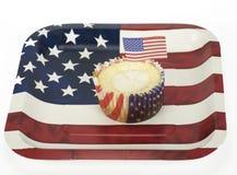 爱国的杯形蛋糕 免版税库存照片