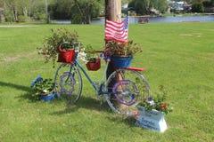 爱国的自行车 免版税库存照片