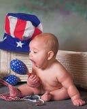 爱国的婴孩 免版税库存图片