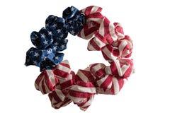 爱国美国独立花圈 免版税库存照片