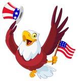 爱国美国的老鹰 库存照片