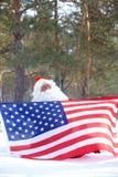 爱国者圣诞老人 库存照片