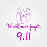 爱国者天,简单的纪念设计例证9月11日 图库摄影