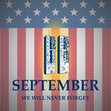 爱国者天 9月11日 我们不会忘记 皇族释放例证