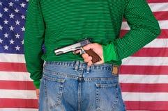 爱国者枪手 库存照片