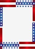 爱国边界的框架 图库摄影