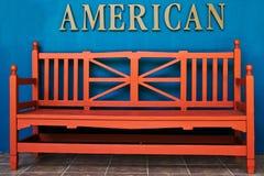 爱国长凳 库存照片