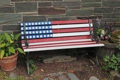 爱国长凳 免版税库存图片