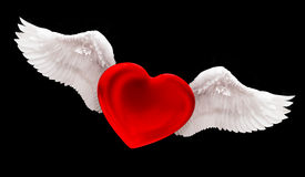 爱在天空中 库存例证